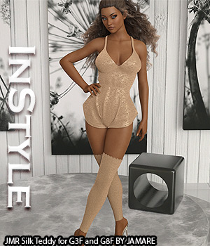InStyle - JMR Silk Teddy for G3F and G8F 3D Figure Assets -Valkyrie-