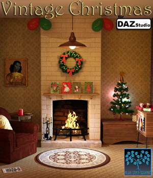 Vintage Christmas for Daz Studio 3D Models BlueTreeStudio