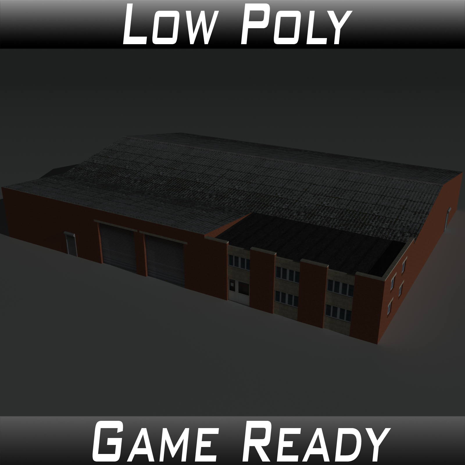 Low Poly Factory Building 21 - Extended Licence by 3dlands