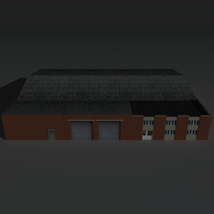 Low Poly Factory Building 21 - Extended Licence image 1