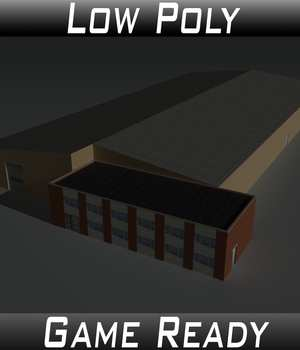 Low Poly Factory Building 22 - Extended Licence 3D Game Models : OBJ : FBX 3D Models Extended Licenses 3dlands