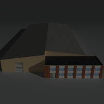 Low Poly Factory Building 22 - Extended Licence image 1