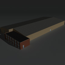 Low Poly Factory Building 22 - Extended Licence image 2