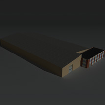 Low Poly Factory Building 22 - Extended Licence image 8