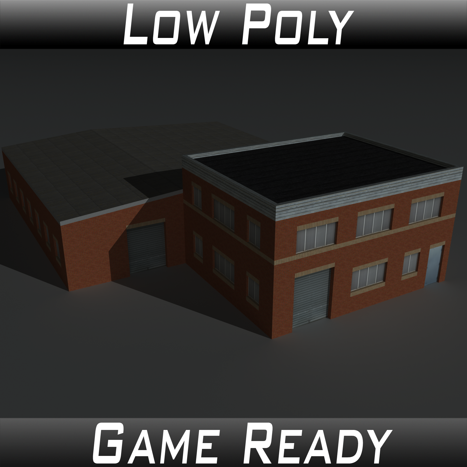 Low Poly Factory Building 23 - Extended Licence