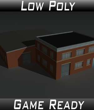Low Poly Factory Building 23 - Extended Licence 3D Game Models : OBJ : FBX 3D Models Extended Licenses 3dlands
