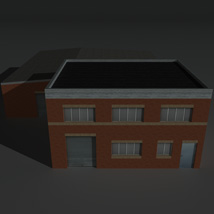 Low Poly Factory Building 23 - Extended Licence image 1