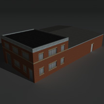Low Poly Factory Building 23 - Extended Licence image 2
