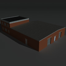 Low Poly Factory Building 23 - Extended Licence image 4
