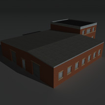 Low Poly Factory Building 23 - Extended Licence image 6