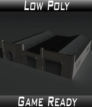 Low Poly Factory Building 24 - Extended Licence 3D Game Models : OBJ : FBX 3D Models Extended Licenses 3dlands