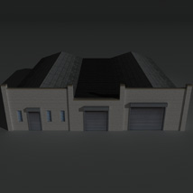 Low Poly Factory Building 24 - Extended Licence image 1