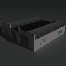 Low Poly Factory Building 24 - Extended Licence image 2