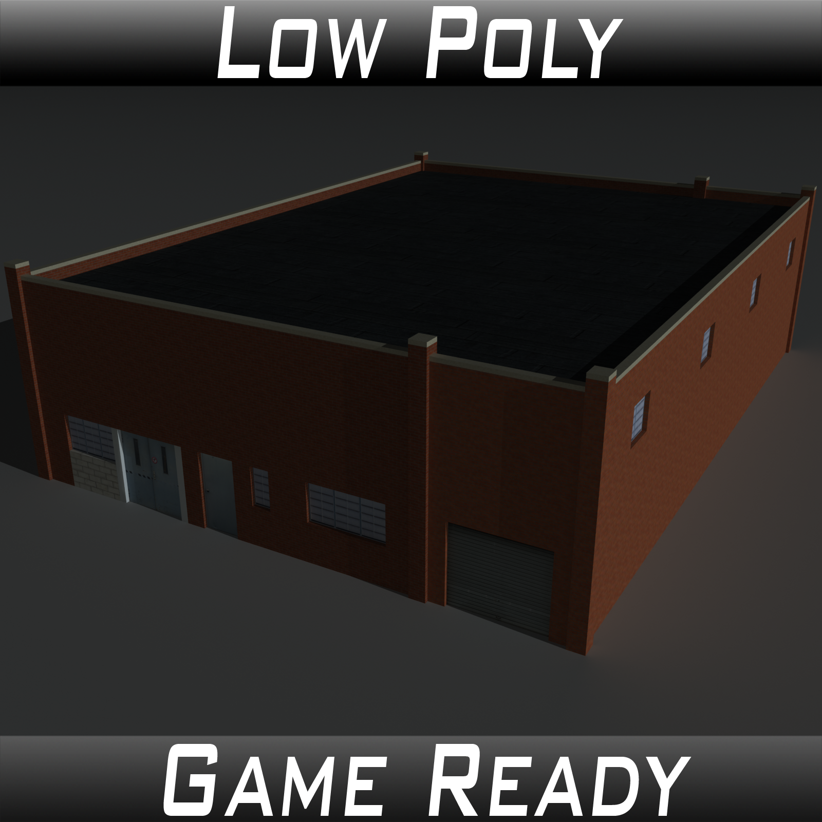 Low Poly Factory Building 25 - Extended Licence