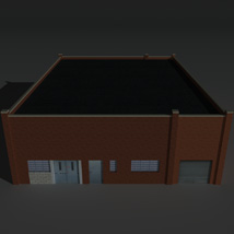 Low Poly Factory Building 25 - Extended Licence image 1