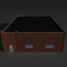 Low Poly Factory Building 25 - Extended Licence image 5