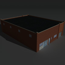 Low Poly Factory Building 25 - Extended Licence image 8
