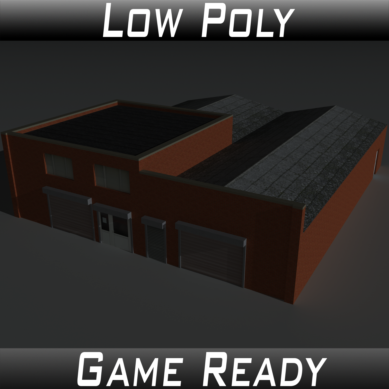 Low Poly Factory Building 26 - Extended Licence by 3dlands