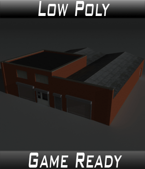Low Poly Factory Building 26 - Extended Licence 3D Game Models : OBJ : FBX 3D Models Extended Licenses 3dlands