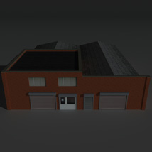 Low Poly Factory Building 26 - Extended Licence image 1