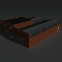 Low Poly Factory Building 26 - Extended Licence image 2