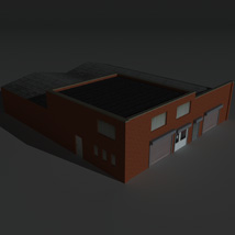 Low Poly Factory Building 26 - Extended Licence image 8