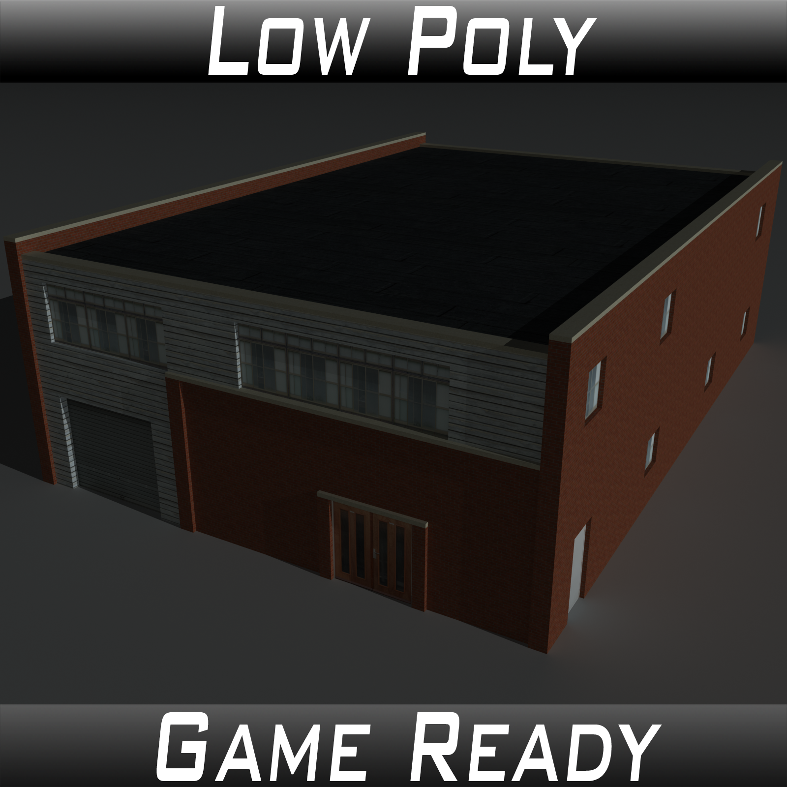 Low Poly Factory Building 27 - Extended Licence by 3dlands