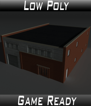 Low Poly Factory Building 27 - Extended Licence 3D Game Models : OBJ : FBX 3D Models Extended Licenses 3dlands