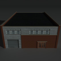Low Poly Factory Building 27 - Extended Licence image 1