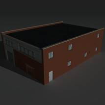Low Poly Factory Building 27 - Extended Licence image 2