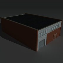 Low Poly Factory Building 27 - Extended Licence image 8