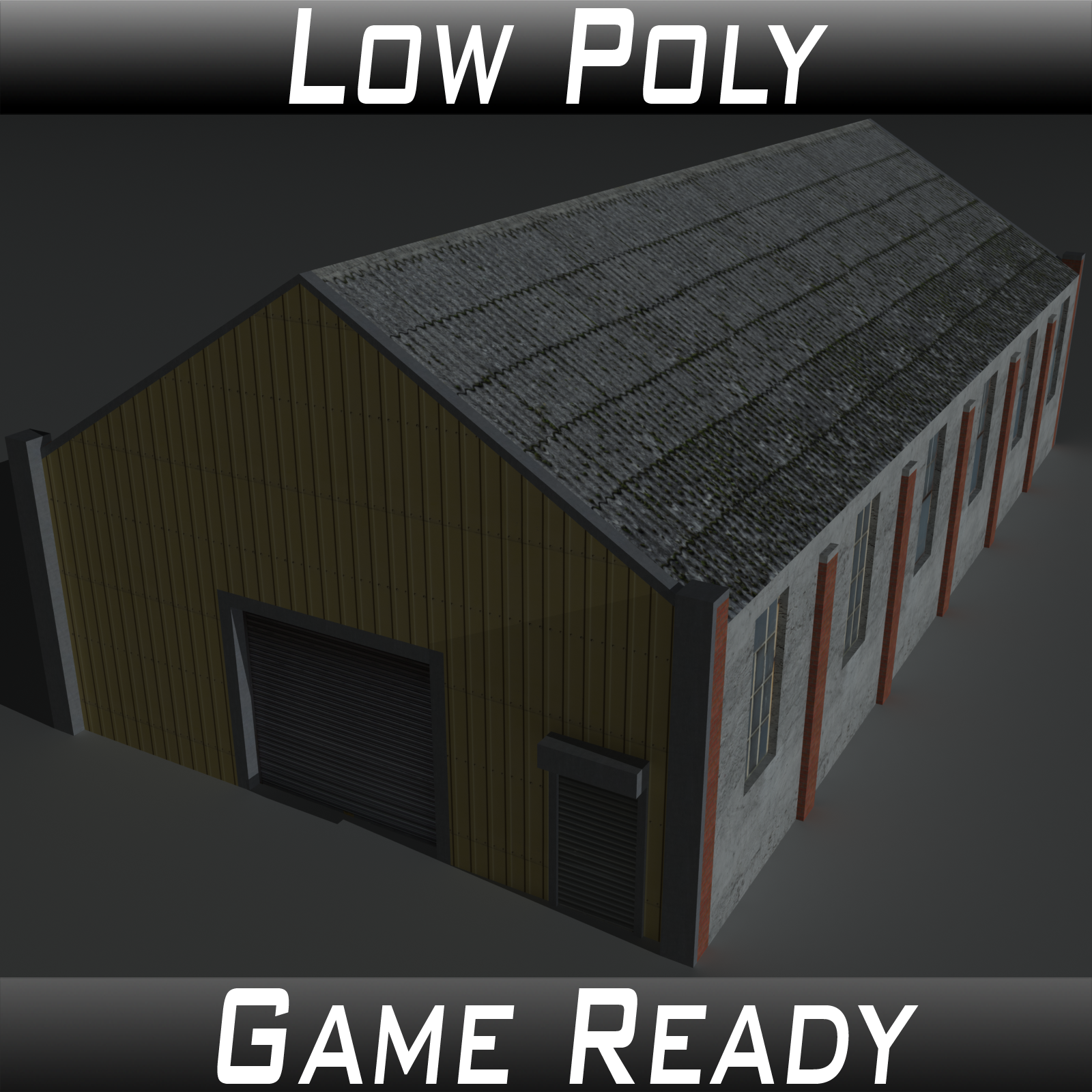 Low Poly Factory Building 28 - Extended Licence