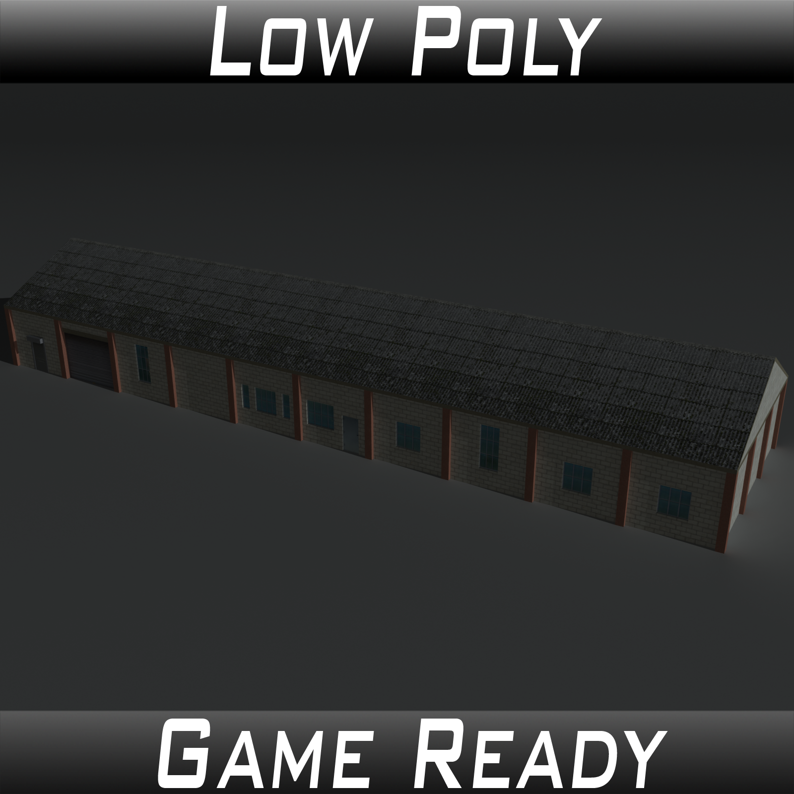 Low Poly Factory Building 29 - Extended Licence