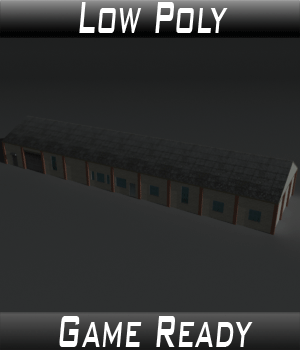 Low Poly Factory Building 29 - Extended Licence 3D Game Models : OBJ : FBX 3D Models Extended Licenses 3dlands