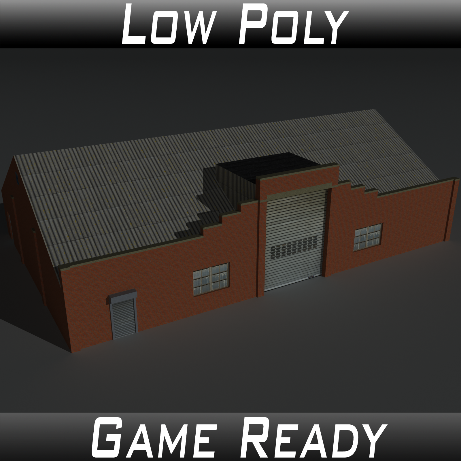 Low Poly Factory Building 30 - Extended Licence by 3dlands