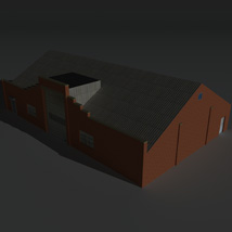 Low Poly Factory Building 30 - Extended Licence image 2
