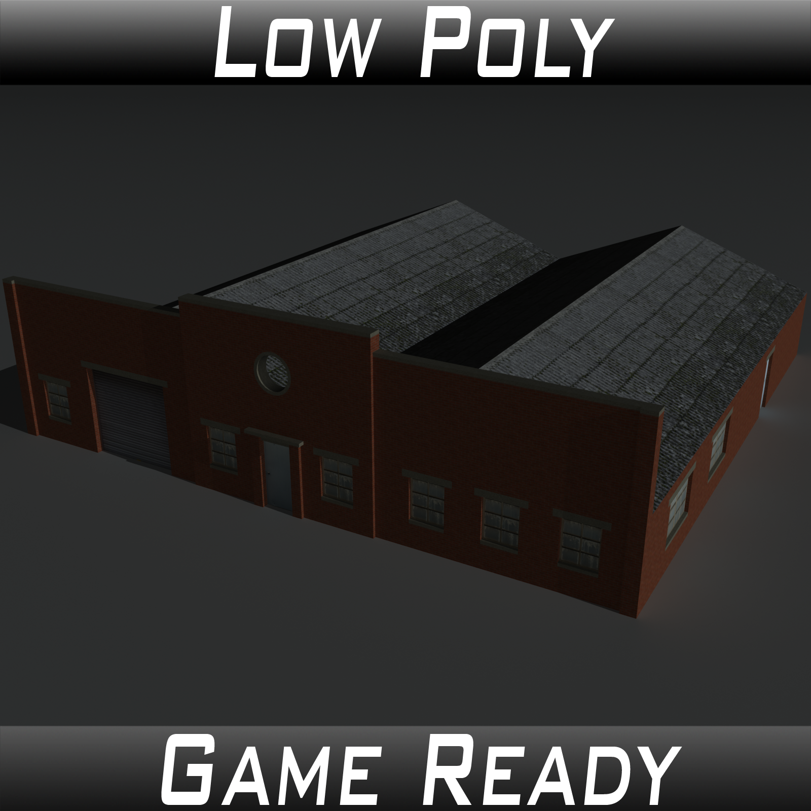 Low Poly Factory Building 31 - Extended Licence