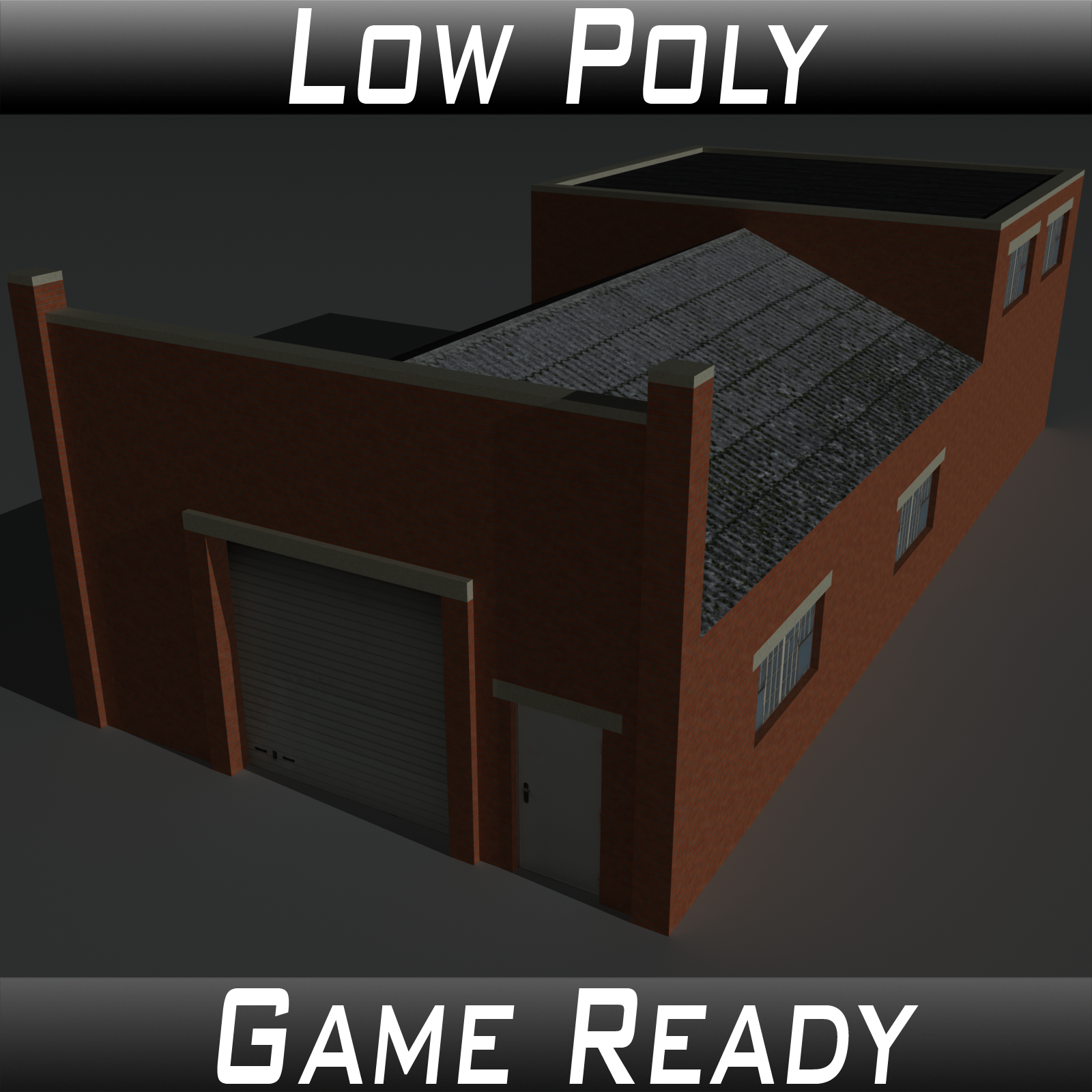 Low Poly Factory Building 32 - Extended Licence