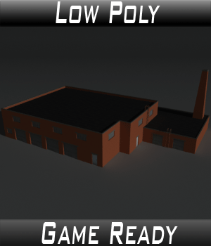 Low Poly Factory Building 34 - Extended Licence 3D Game Models : OBJ : FBX 3D Models Extended Licenses 3dlands
