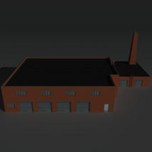 Low Poly Factory Building 34 - Extended Licence image 1