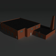 Low Poly Factory Building 34 - Extended Licence image 2