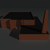 Low Poly Factory Building 34 - Extended Licence image 3