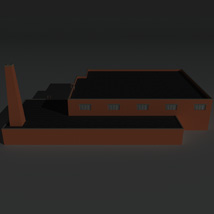 Low Poly Factory Building 34 - Extended Licence image 5