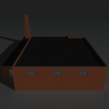 Low Poly Factory Building 34 - Extended Licence image 7