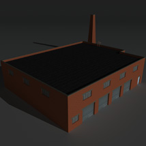 Low Poly Factory Building 34 - Extended Licence image 8