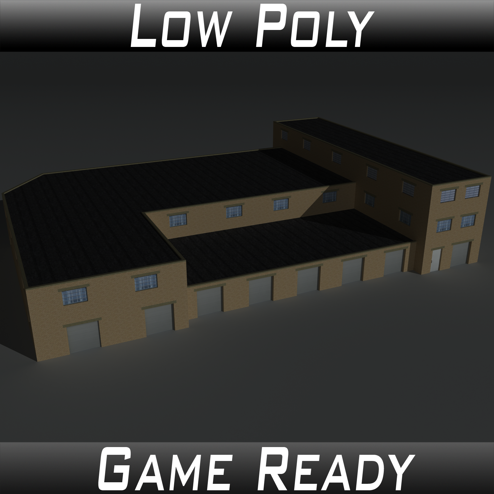 Low Poly Factory Building 35 - Extended Licence