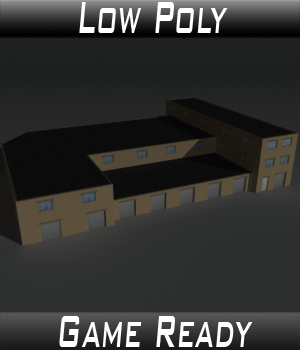Low Poly Factory Building 35 - Extended Licence 3D Game Models : OBJ : FBX 3D Models Extended Licenses 3dlands