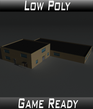 Low Poly Factory Building 36 - Extended Licence 3D Game Models : OBJ : FBX 3D Models Extended Licenses 3dlands