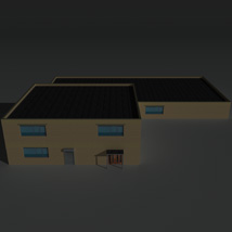 Low Poly Factory Building 36 - Extended Licence image 1