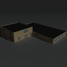 Low Poly Factory Building 36 - Extended Licence image 2
